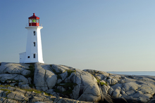 Canvastavla - Peggys Cove Lighthouse
