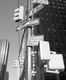 Fototapete - Street Signs New York 8 av