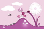 Wall Mural - A Bugs World - Pink