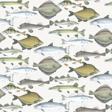 Wallpaper - Fish Pattern