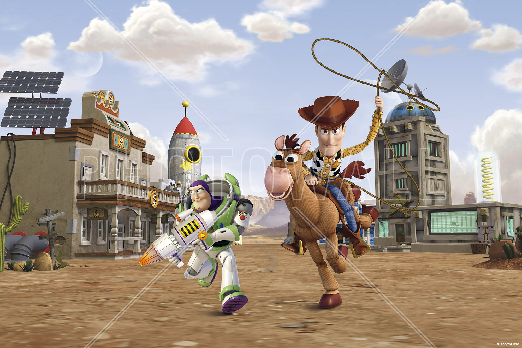 Wall Mural   Toy Story   Bullseye Woody Buzz Lightyear Part 47