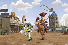 Wall mural - Toy Story - Bullseye Woody Buzz Lightyear