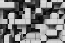 Fototapet - Deep Tetris - Light Grey