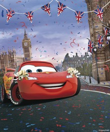 Canvasschilderij - Cars - Lightning McQueen - London