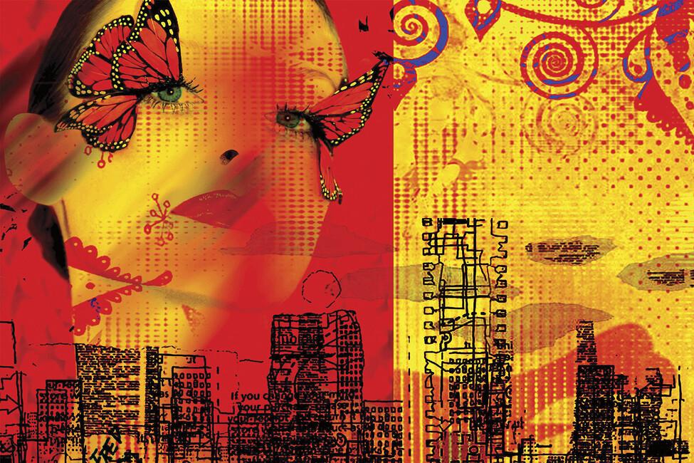 Butterfly wall mural photo wallpaper photowall for Butterfly mural wallpaper