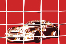 Wall Mural - Polaroid Sports Car