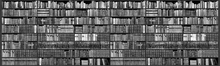 Canvastavla - Bookshelf - Grayscale
