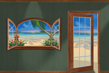 Fototapet - Room with a View of Paradise
