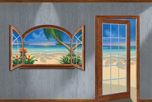 Canvas-taulu - View of Paradise-Beachwood