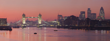 Canvas print - London Skyline in Sunset