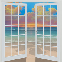 Canvas-taulu - Sunset Through Window