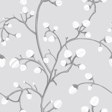 Wallpaper - Willow Buds Grey