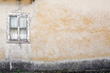 Fototapet - Old Wall with Wooden Window
