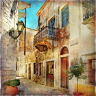 Fototapeta - Old Street of Greece