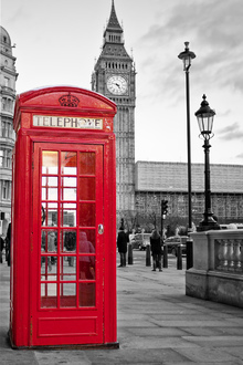 Wall mural - London Telephone