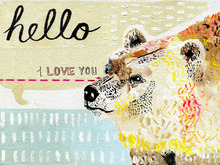 Canvas print - Hello I Love You