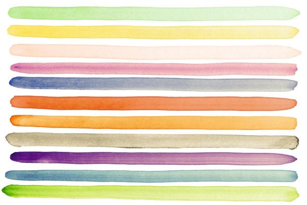 Watercolor Stripes Wall Mural Amp Photo Wallpaper Photowall