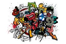 Wall mural - Graffiti Elements