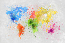 Canvas-taulu - Colorful World