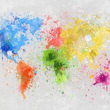 World map canvas prints canvas art photowall canvas print colorful world gumiabroncs Images
