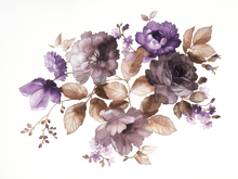 Fototapet - Flowers in Watercolor