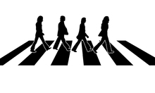 Canvastavla - Beatles - Abbey Road Illustration