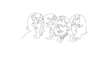 Fototapet - Beatles - Outline