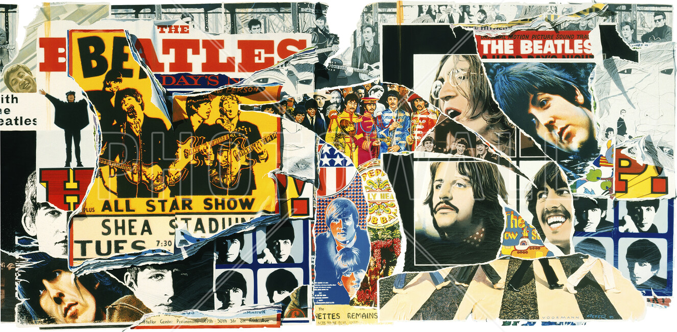 Beatles vintage poster wall wall mural photo for Cheap wall mural posters