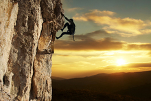 Canvas print - Rock Climber