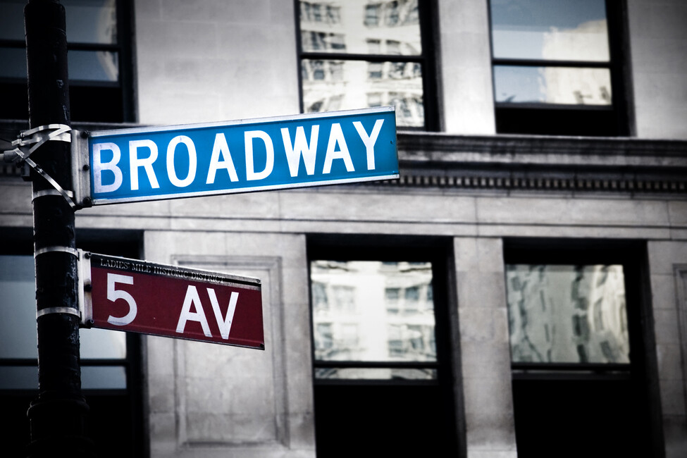 Broadway sign in new york wall mural photo wallpaper for Broadway wall mural