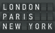 Canvas-taulu - London - Paris - New York