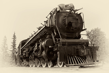Canvastavla - Steam Locomotive