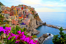 Canvastavla - Village of Manarola, Italy