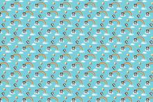 Wall mural - Panda Sky - Blue