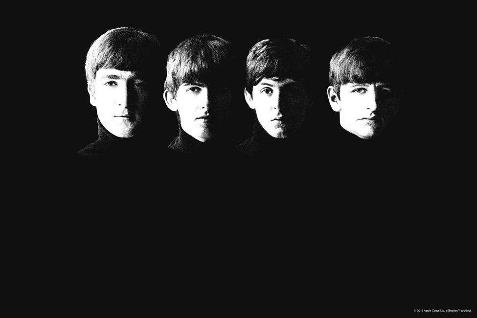 Beatles grainy wall mural photo wallpaper photowall for Beatles wall mural