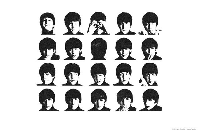 Beatles hard days night wall mural photo wallpaper for Beatles wall mural