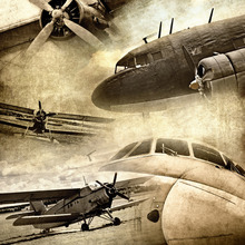 Wall mural - Retro Airplanes