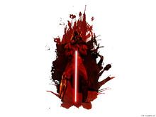 Canvastavla - Darth Vader™ - Vulcano Splatter