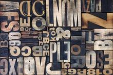 Canvas-taulu - Wooden Letterpress Blocks