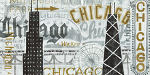Canvas print - Hey Chicago Vintage