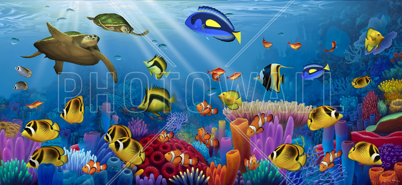sea of life wall mural photo wallpaper photowall