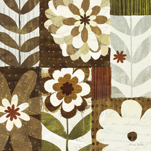 Wall mural - Happy Daisy Patchwork