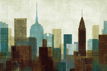 Wall mural - Summer in the City I Blue