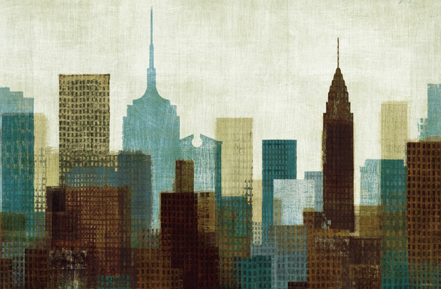 Summer In The City I Blue Wall Mural Amp Photo Wallpaper