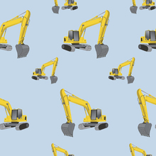 Wallpaper - Excavators Blue