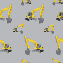 Wallpaper - Excavators Grey