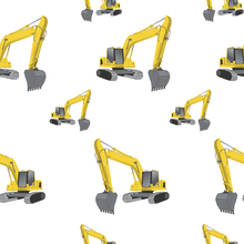 Wallpaper - Excavators white