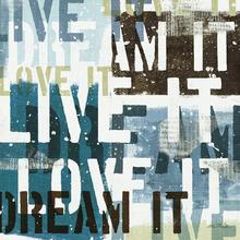 Canvas-taulu - Live the Dream