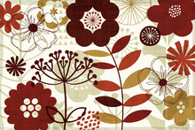 Wall mural - Floral Pop I