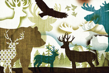 Wall mural - Dweller Collage I